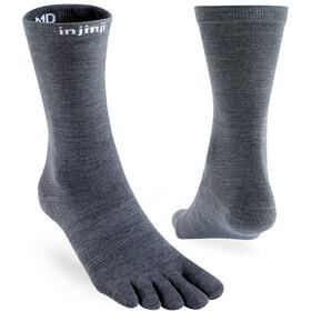 Injinji Liner Crew NuWool Socks, charcoal